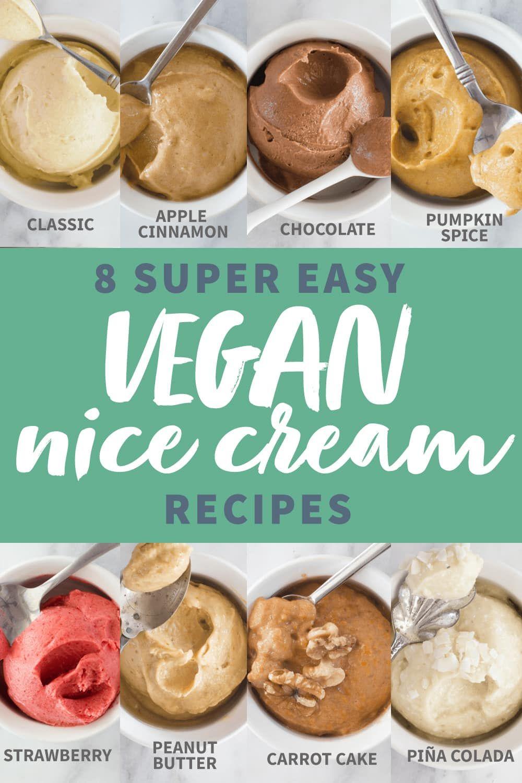8 Vegan Banana Soft Serve Recipes Recipe Nice Cream Recipe Food Processor Recipes Banana Soft Serve