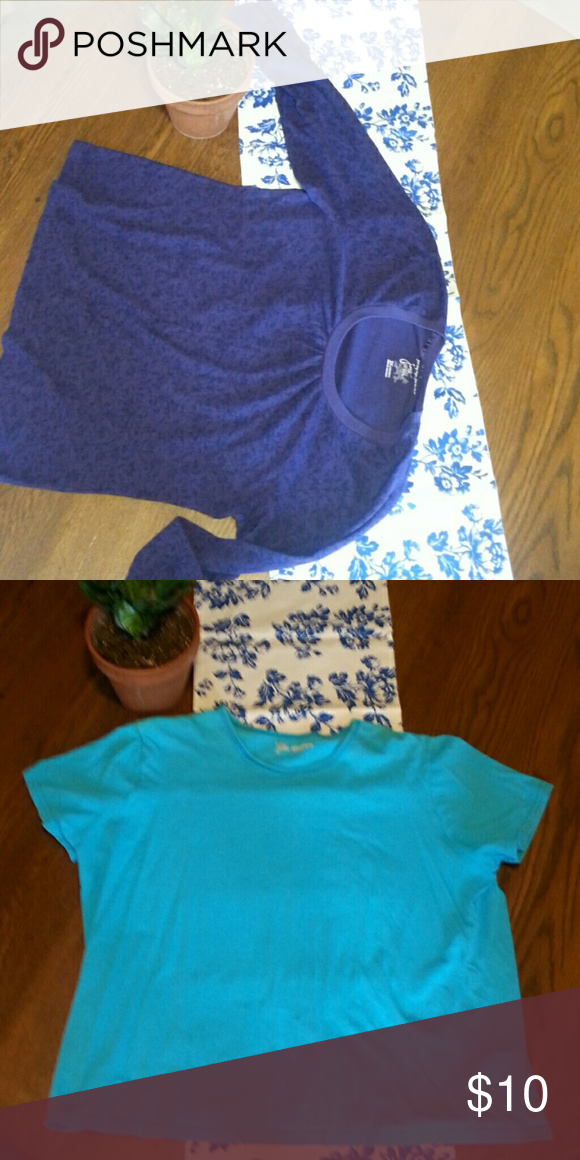 1918dd95a3c Tee shirt lot Two just my size tees one is purple and long sleeved the  other is a short sleeve robins egg blue. 2 x 18 w 20 w. Just My Size Tops  ...