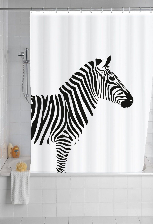 Wenko 20051100 rideau de douche en textile wild anti - Rideau de douche anti moisissure ...