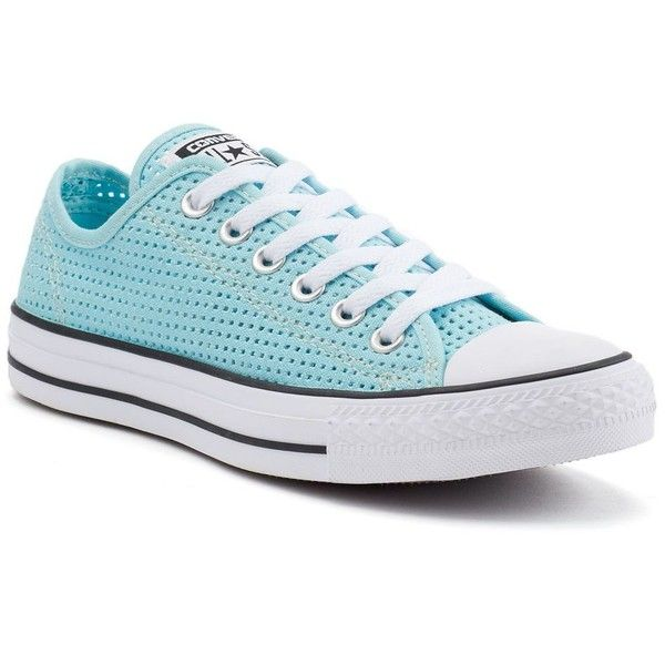 Women's Converse Chuck Taylor All Star Sneakers ($60) ❤ liked on Polyvore featuring shoes, sneakers, motel pool black white, perforated shoes, lacing sneakers, print shoes, converse trainers and laced sneakers