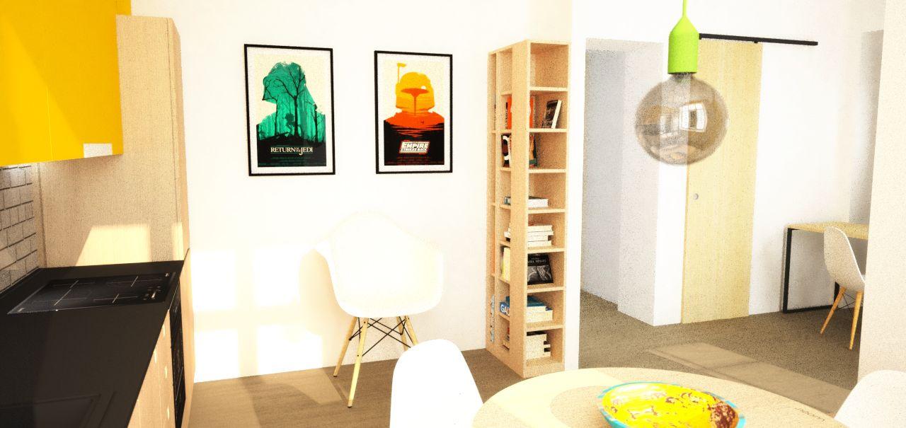 návrh kuchyne a jedálne - Bratislava, Zochova ul., Interiérový dizajn - Kitchen interior by Archilab
