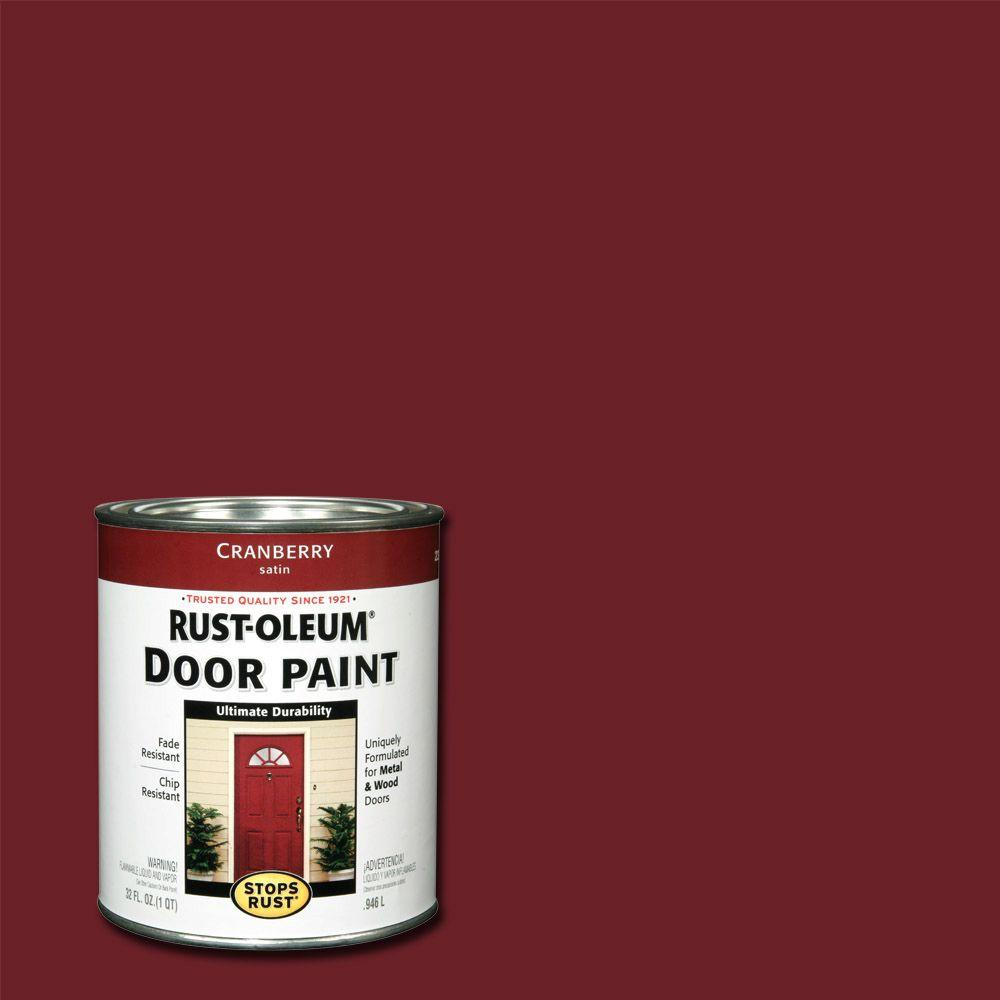 Rust-Oleum Stops Rust 1 qt. Cranberry (Red) Door Paint (2-Pack ...