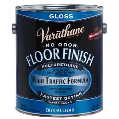 Varathane 1 Gal Clear Gloss Water Based Floor Polyurethane 2 Pack 230031 Floor Finishes Wood Floor Finishes Flooring