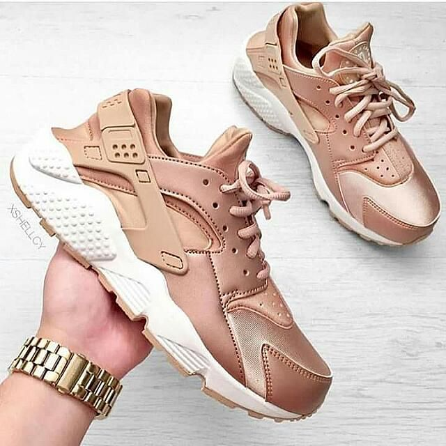 hot sales 9f2d1 19f5d Nike Huarache trainers rose gold sports shoe dhgate product