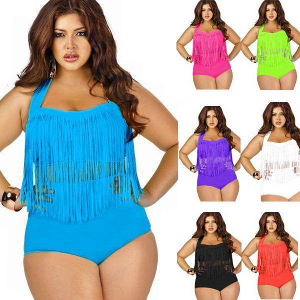 fc5f5308196 Summer Tassels Bikinis High Waist Swimsuit Padded Fringe Shinny Bathing Suit