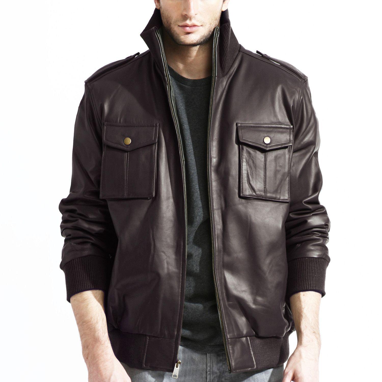 Utility Bomber Jacket // Brown Jackets men fashion