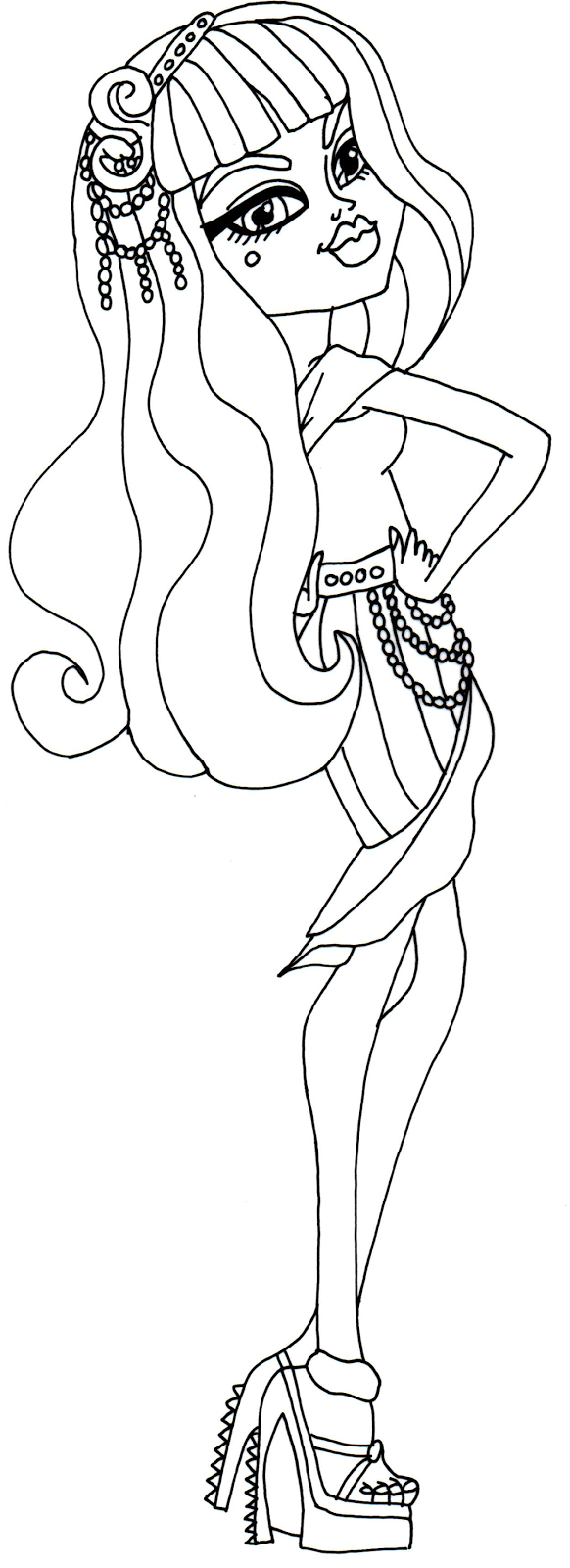 Frights Camera Action Monster High Coloring Page Cleo De Nile