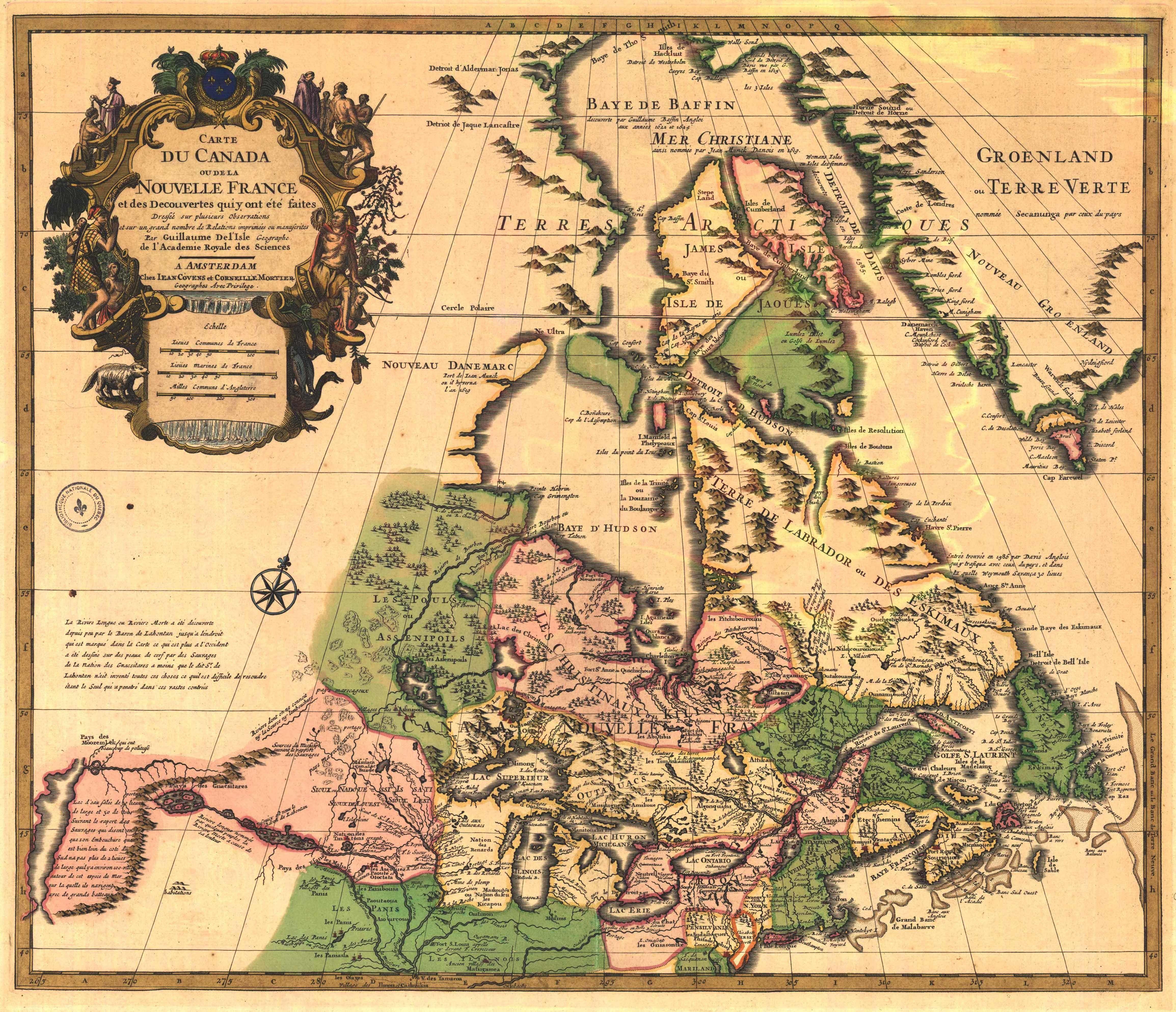 1730 Canada de l'Isle = Carte du Canada ou de la Nouvelle