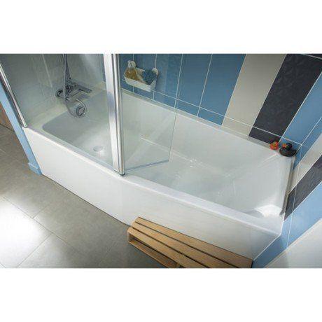 Baignoire L160x l85 cm, JACOB DELAFON Sofa bain et douche, vidage - leroy merlin meuble salle de bain neo