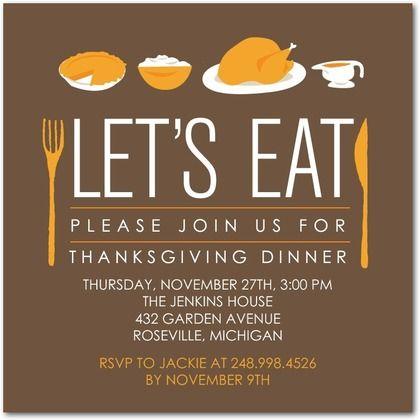 ideas for thanksgiving invitations thanksgiving invitations