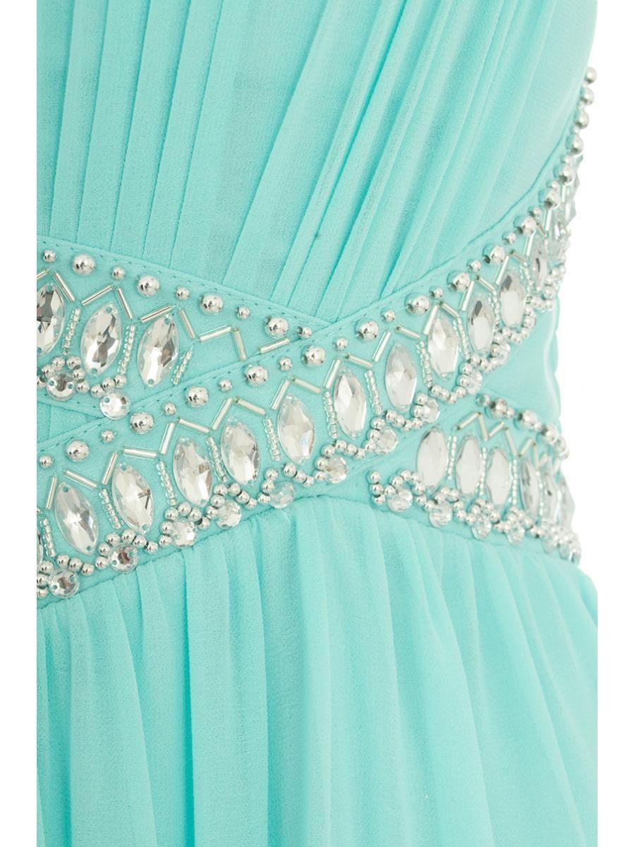 Aqua Chiffon Embellished Maxi Dress - Quiz Clothing | Dronfield ...