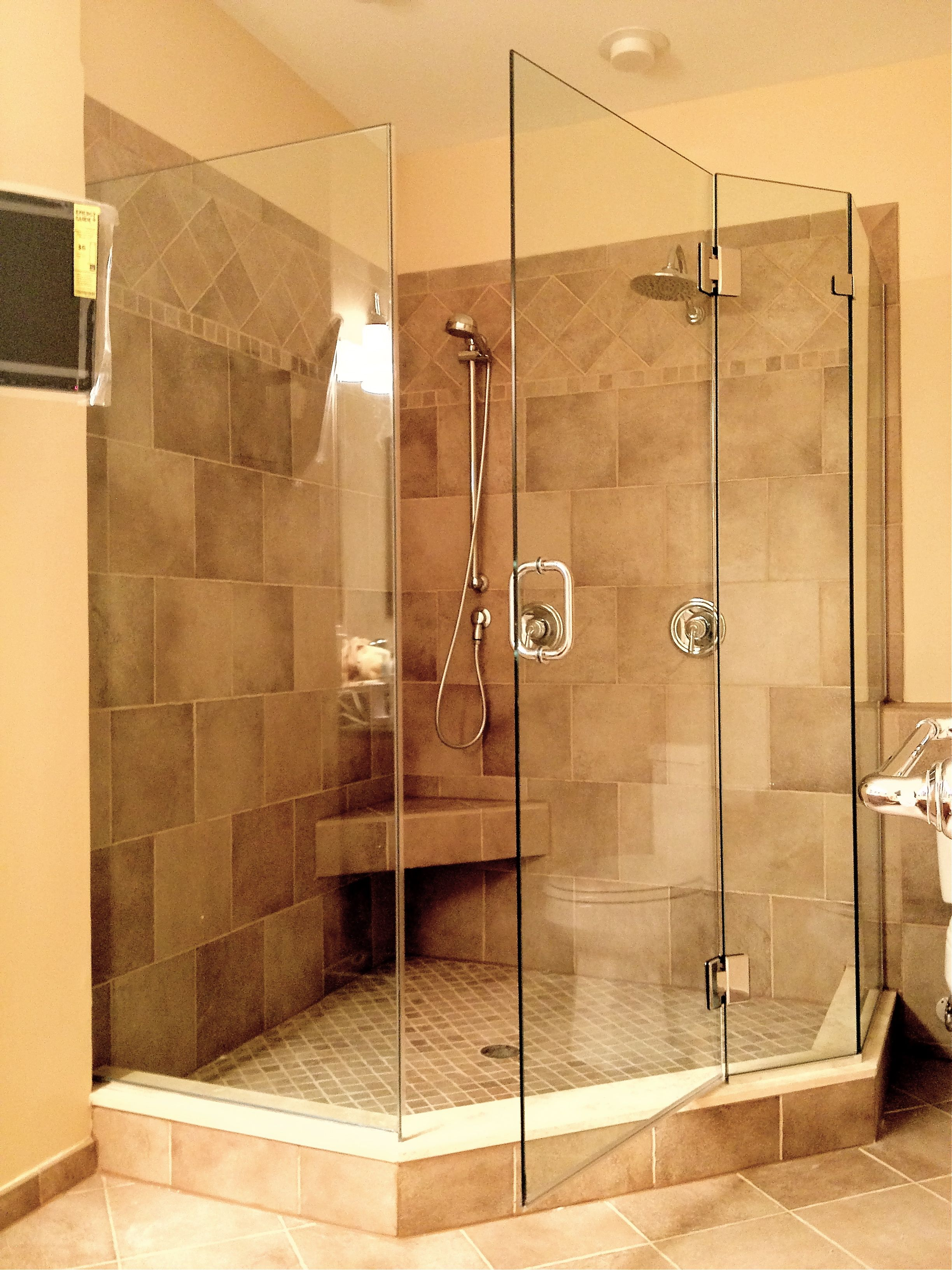 Neo Angle Shower Doors Glass Frameless -- More details can be found ...