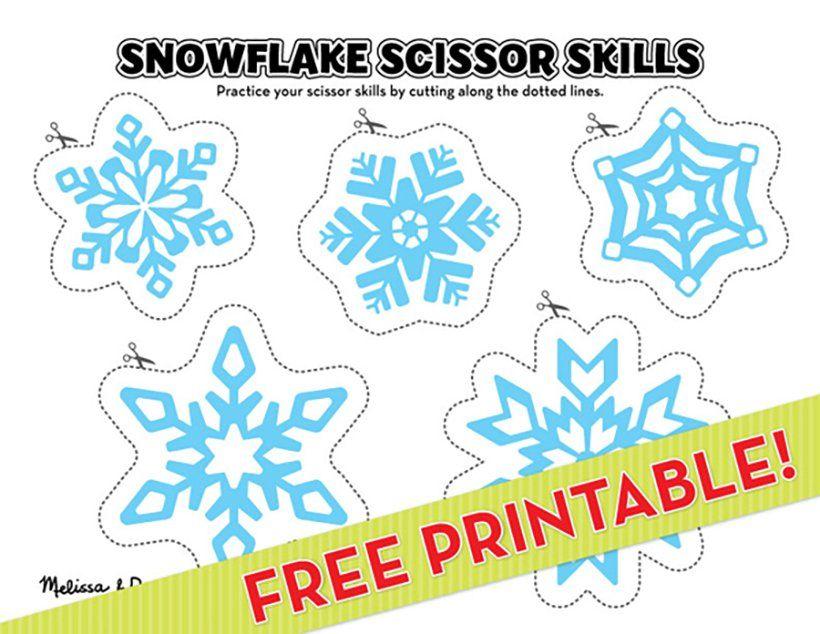 Snowflake Scissor Skills Printable  More! After School