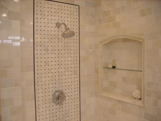 Landsdale Marble Tile Bathroom Shower Stall Marble Tile Niche Shower