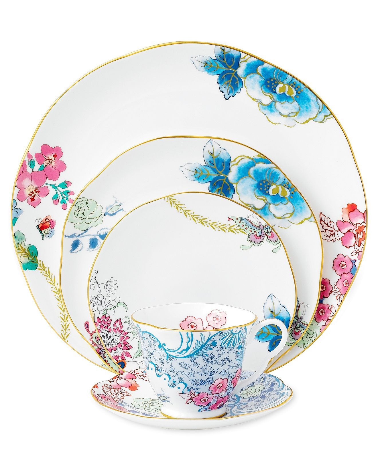 Fine China Patterns wedgwood dinnerware, butterfly bloom collection | fine china