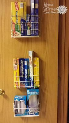 Genial If You Donu0027t Have Room In A Drawer For Your Plastic Wrap Or Aluminum Foil  Rolls, Why Not Use The Unused Space Inside A Cabinet Or Pantry Door?