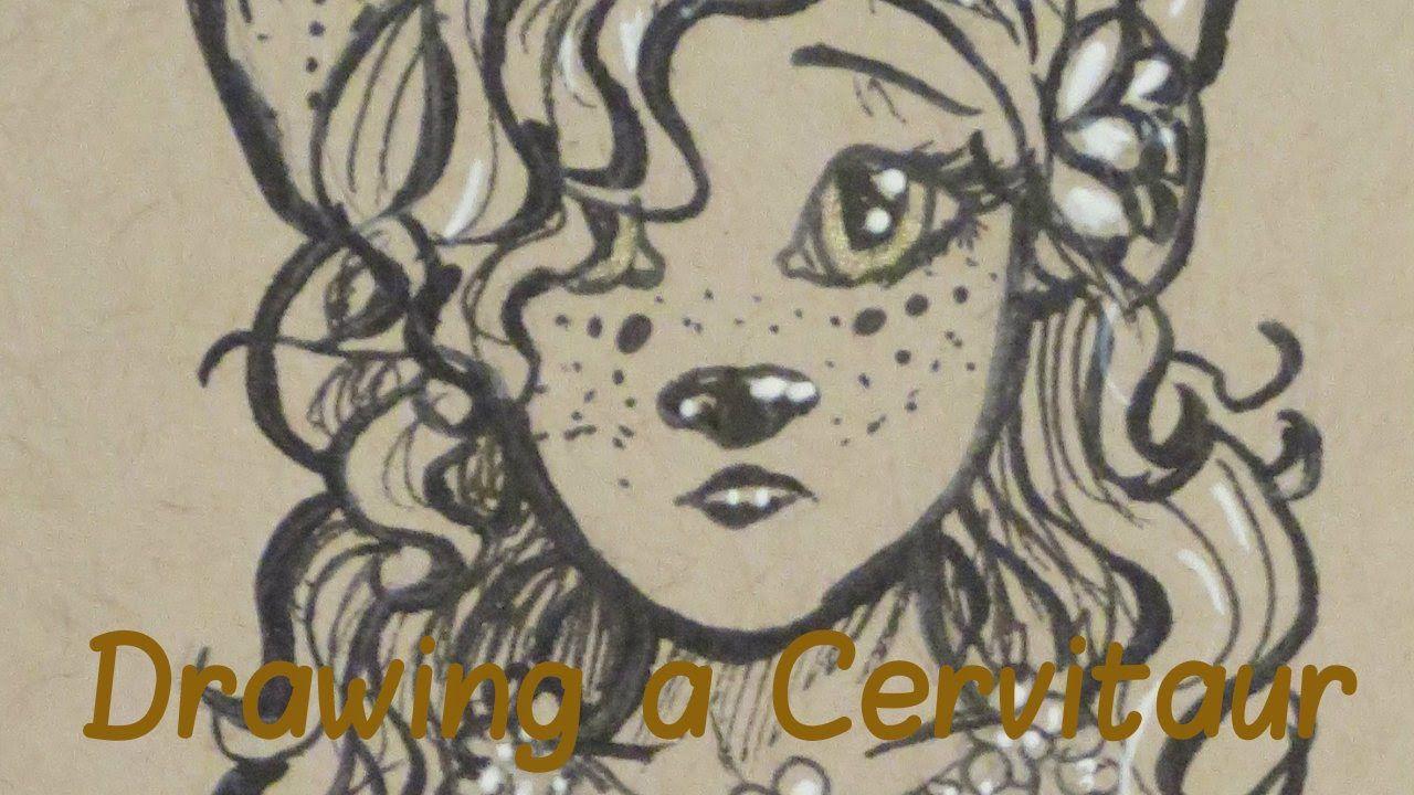 ~*Sketching a Cervitaur/Deer Girl*~