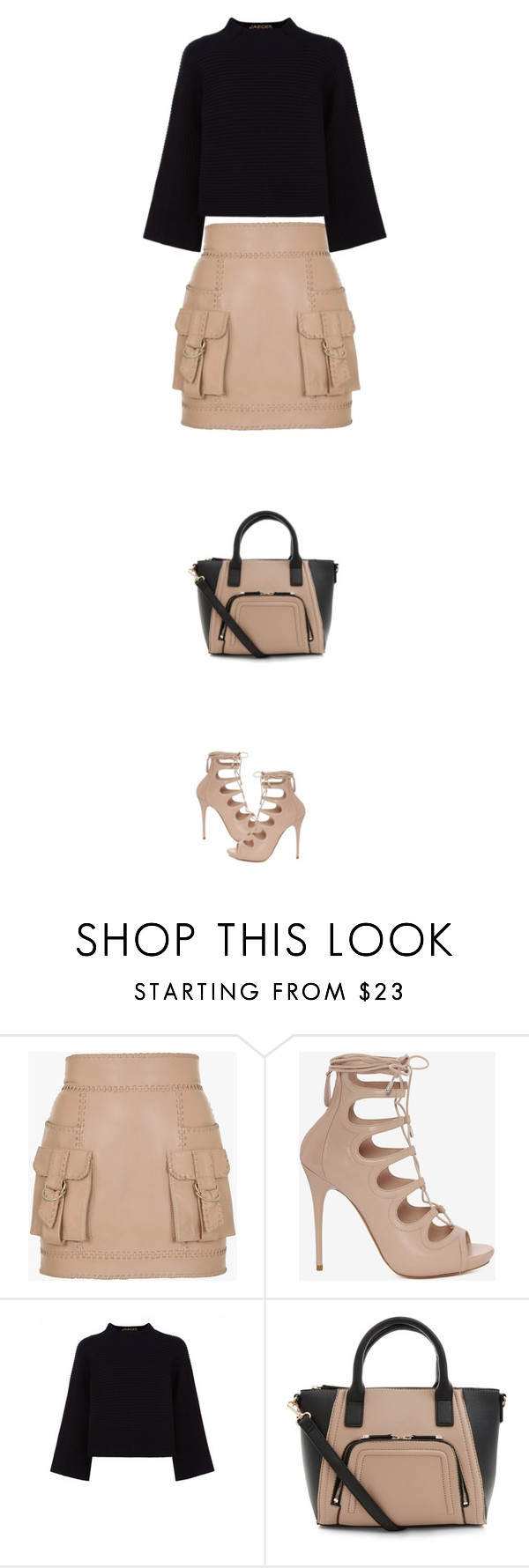 """""""lace up"""" by ecem1 ❤ liked on Polyvore featuring Balmain, Alexander McQueen, Jaeger and New Look"""