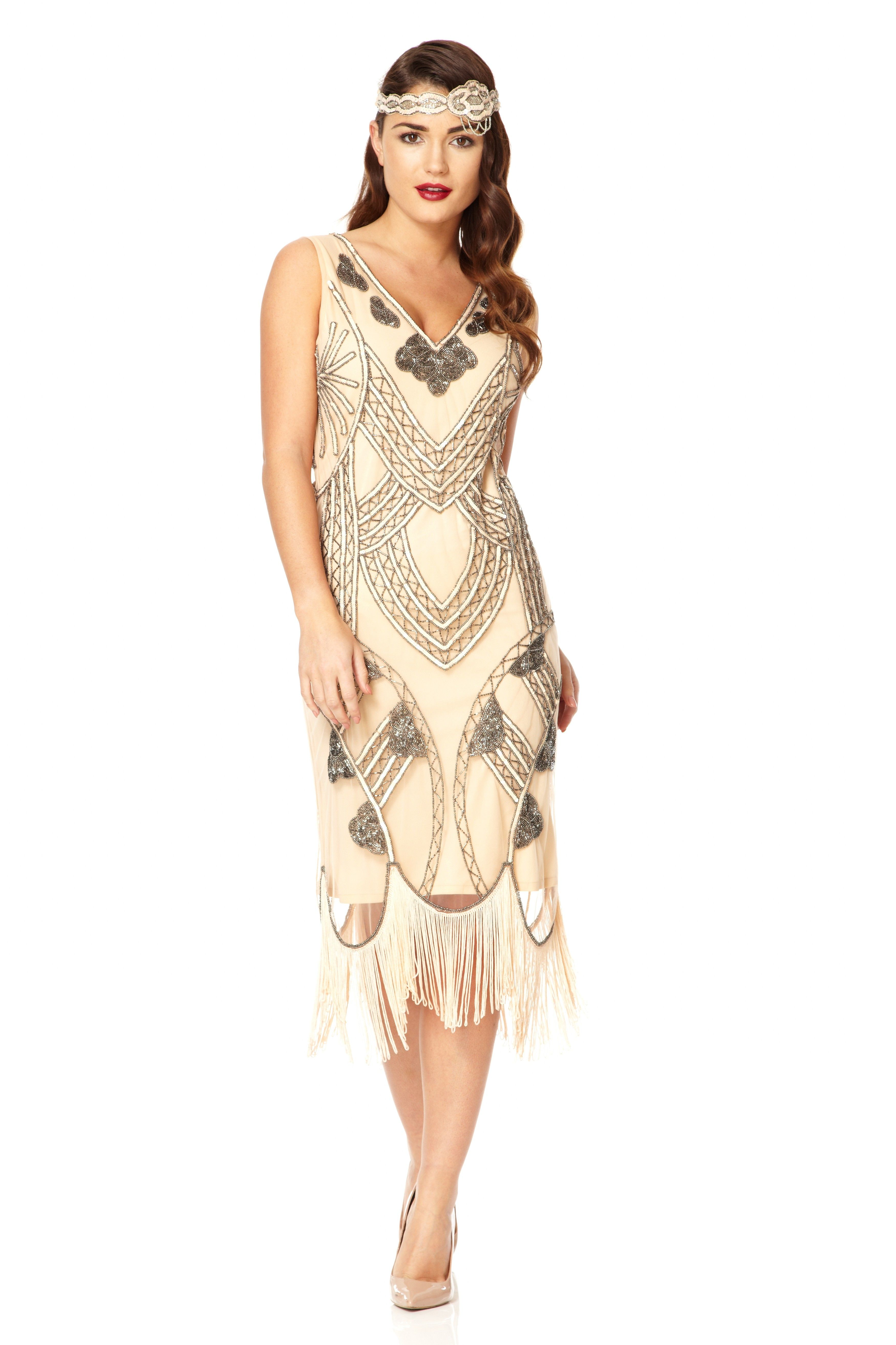juliet blush 1920s great gatsby inspired hand embellished