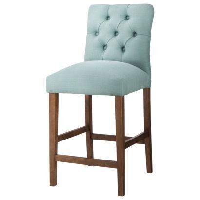 Brilliant 24 Brookline Tufted Counter Stool Chestnut Finish Short Links Chair Design For Home Short Linksinfo