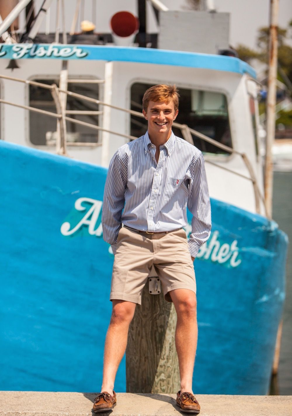 Chatham Chino signature Khaki Shorts. Classic New England preppy ...