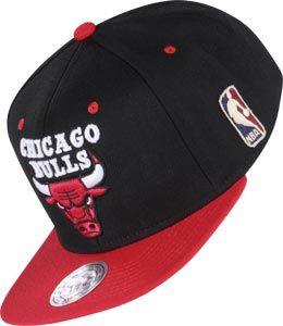 Mitchell /& Ness Snapback Basecap Chicago Bulls  NBA schwarz rot