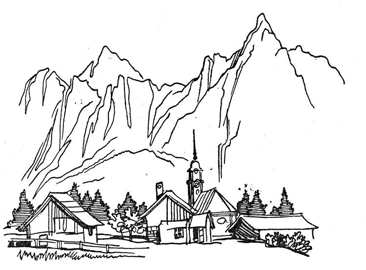 dorf-in-den-bergen-malvorlagen.png (750×555) | coloring 3 ...