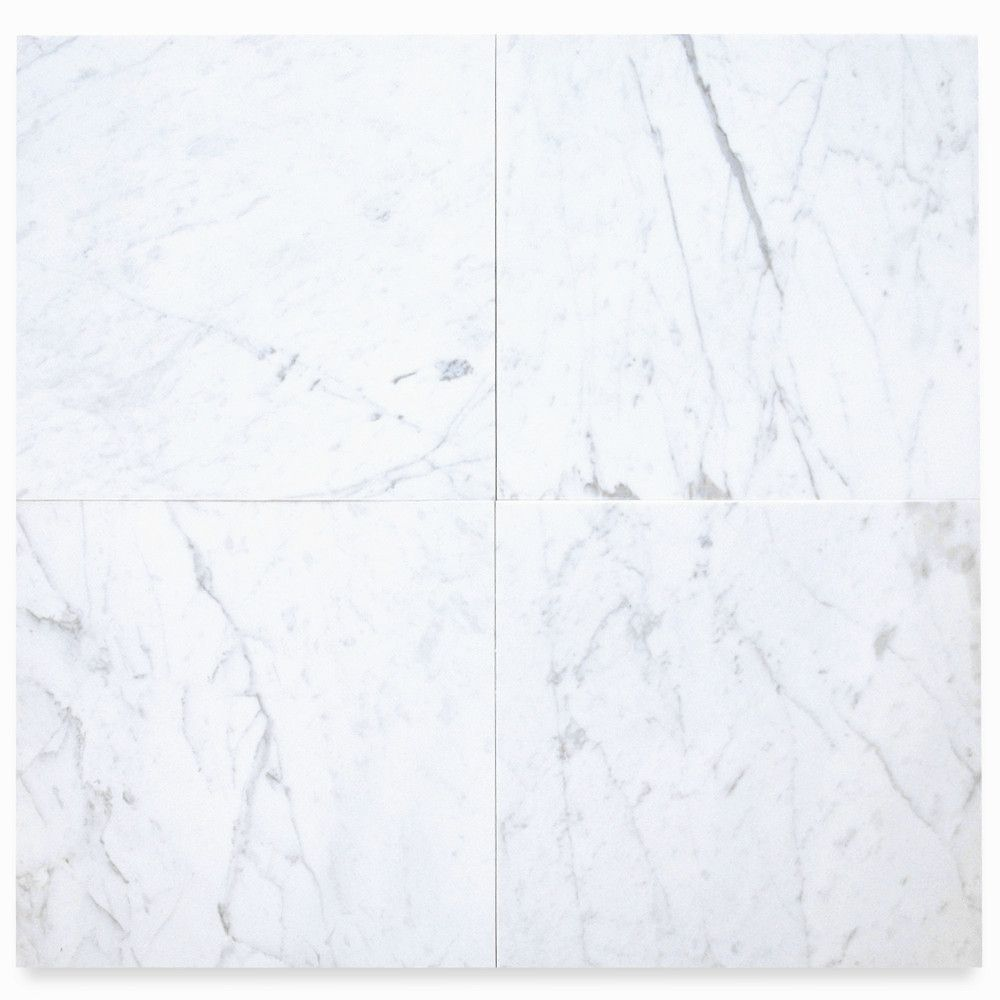 Carrara White 18x18 Tile Polished Marble From Italy In 2020 Carrara Marble White Marble