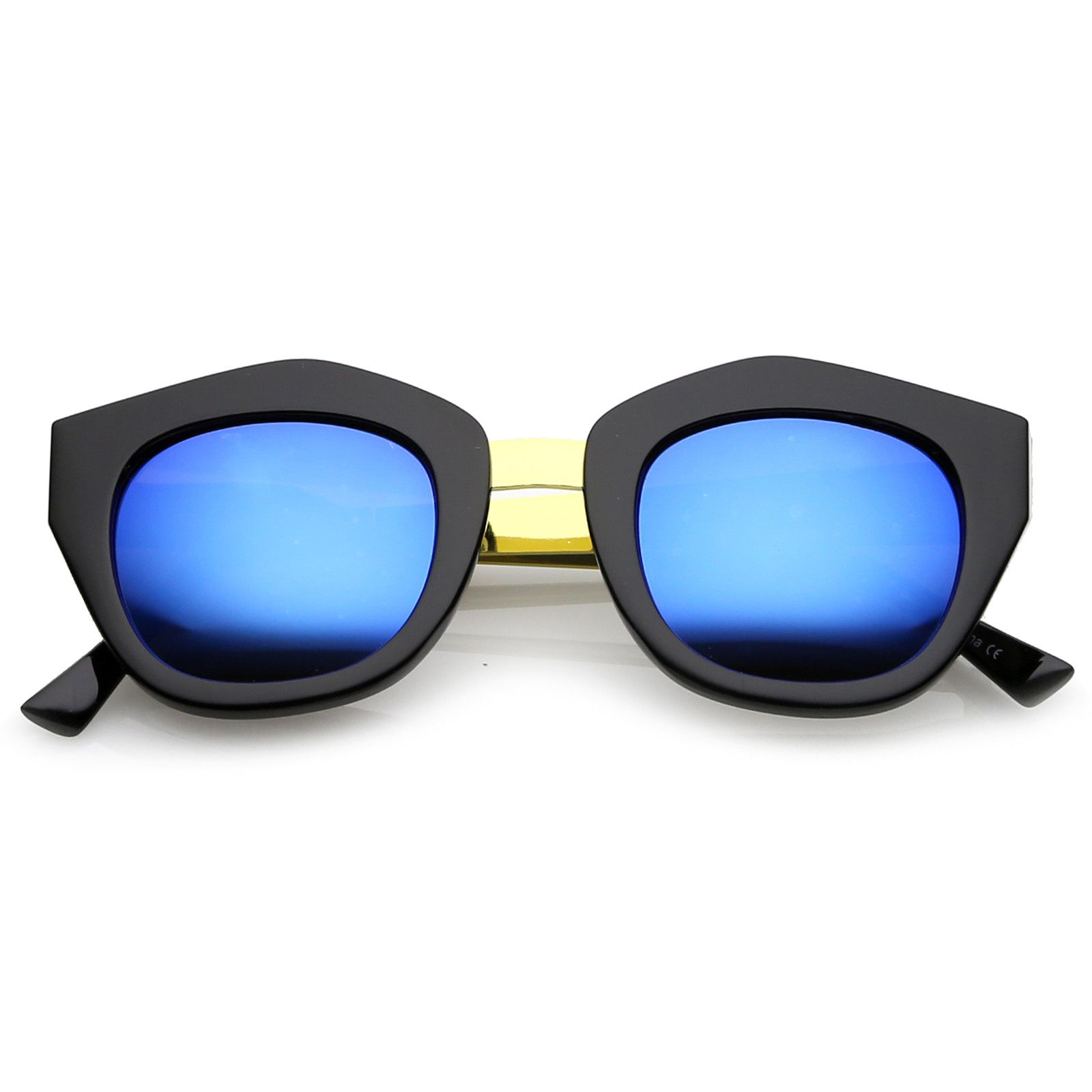 396fca937c2 Women s Metal Bridge Colored Mirror Lens Square Cat Eye Sunglasses 46mm   sunglasses  frame  sunglass  bold  clear  sunglassla  summer  mirrored   cateye   ...