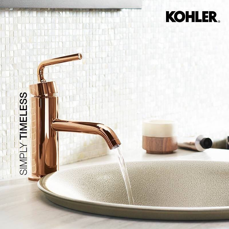 Kohler Indiathe Rose Gold Finish Of The Purist Faucet Provides A