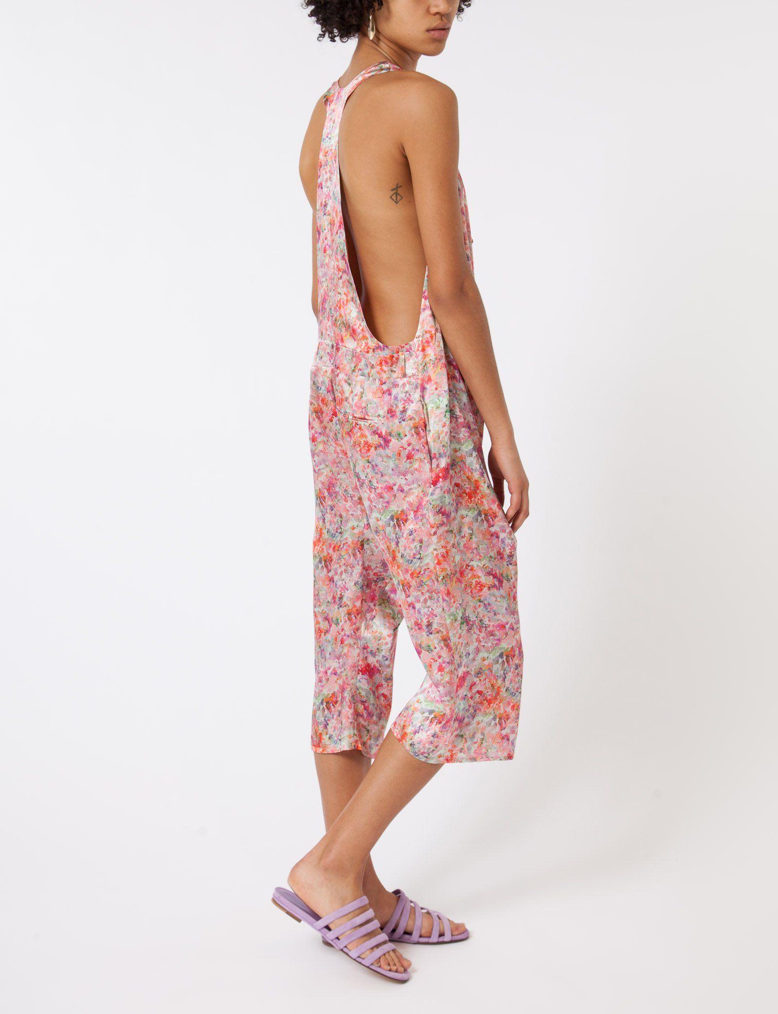 b1f46d764cb Dungaree Shorts Floral Satin