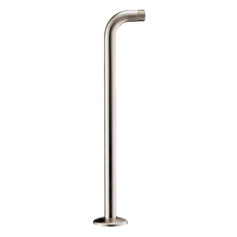 Right Angle Shower Arm With Flange In Brushed Nickel