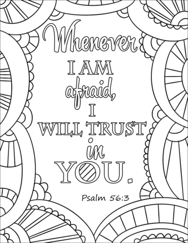 i will trust in you coloring page
