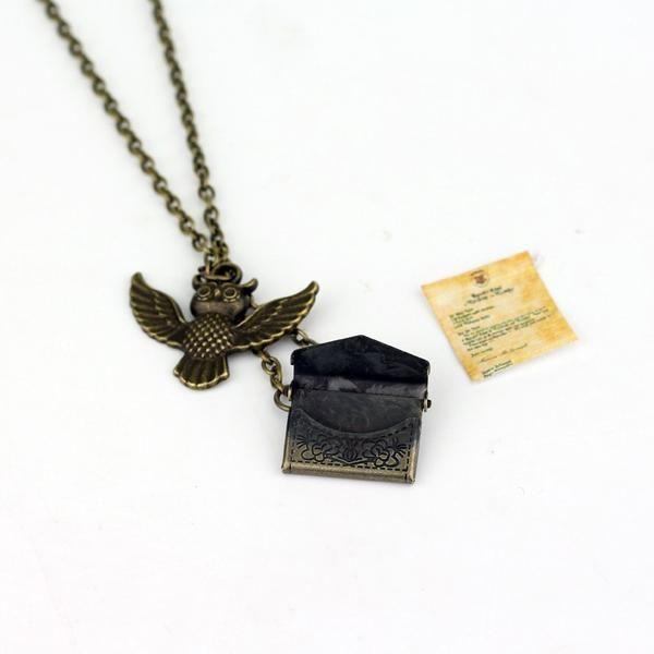 Harry Potter Owl Hedwig Hogwarts Acceptance Letter Necklace - hogwarts acceptance letter