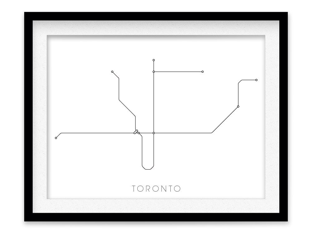 Toronto Subway Map Print.Pin By Kristen Mitchem On Study Toronto Subway Subway Map Toronto
