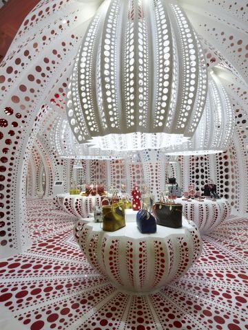 Yayoi Kusama for Louis Vuitton at Selfridges London - on until 19 October.