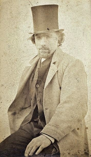"""iamveryamused: """"   The great sculptor Auguste Rodin, photographed by Charles Aubry, ca. 1862.   """""""