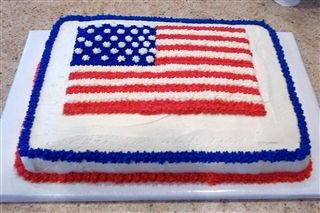American Flag Cake For Welcome Home With Images American Flag