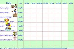 Printable children s chore chart template an organized home
