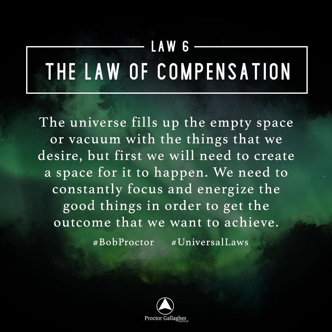 The Law Of Compensation States That The Amount Of Money Or Good You Receive In Law Of Attraction Affirmations Law Of Attraction Manifestation Law Of Attraction