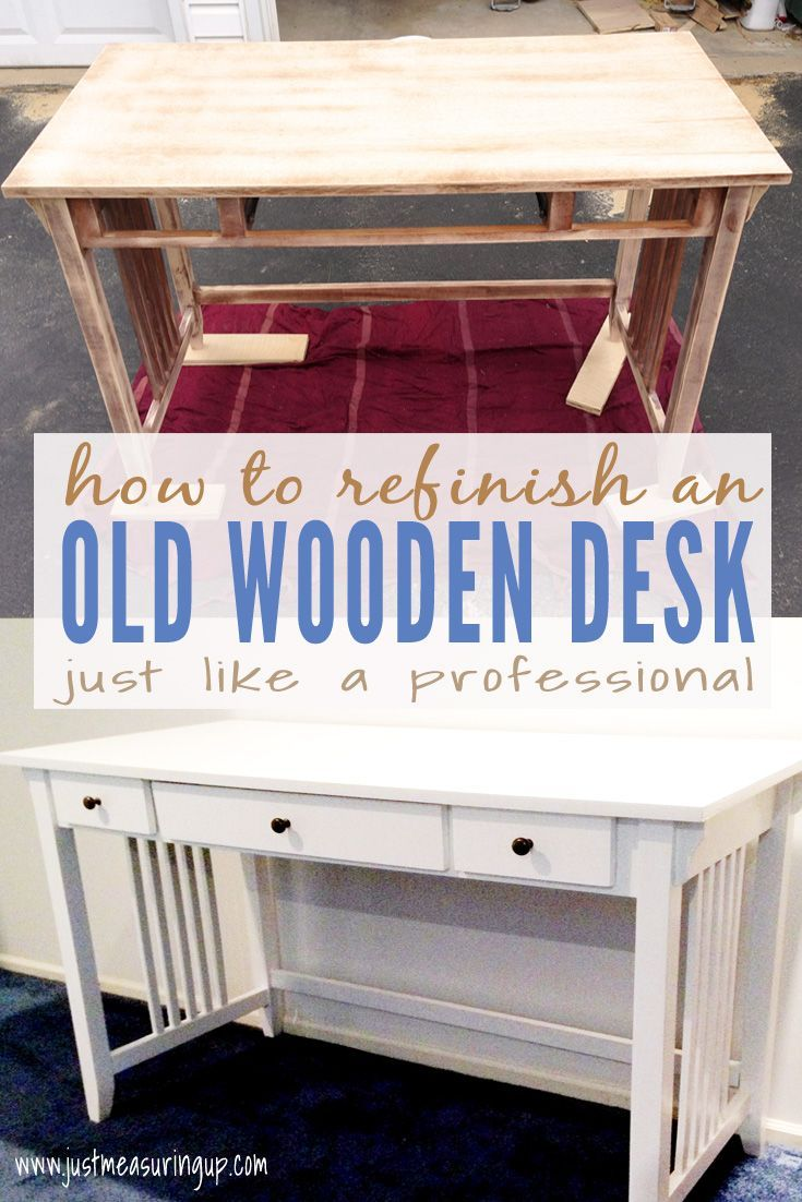 How To Paint A Desk Like A Professional Easy Tutorial For A Modern White Desk White Painted Desk White Desk Diy Painted Desk