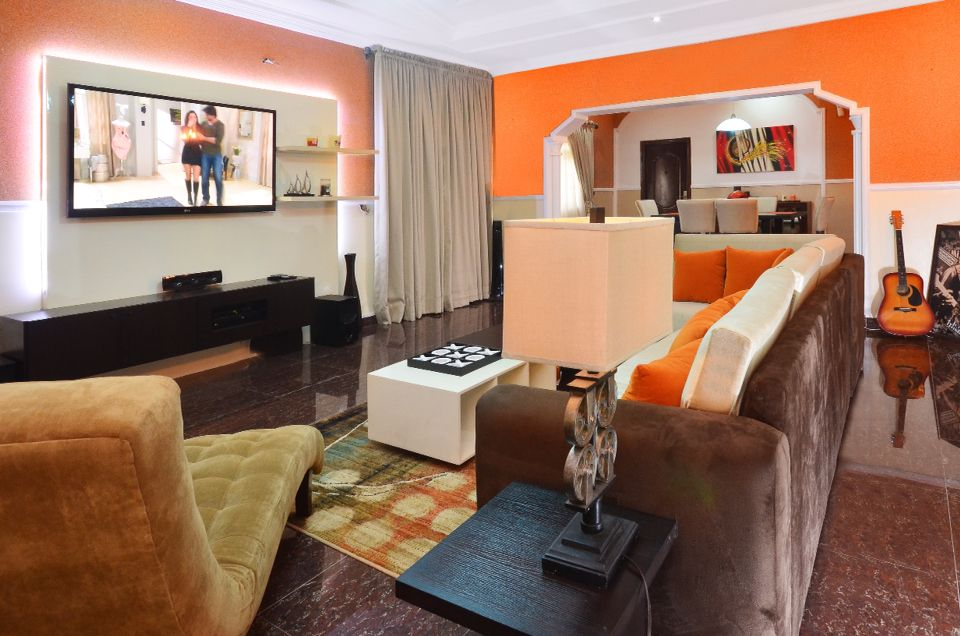 Living room design and decor by us for Interior decoration nigeria