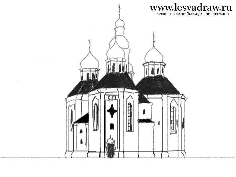 Рисунки замков карандашом для 7 класса