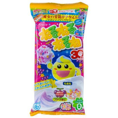 'Neruneru' is the Japanese word used to describe things that are viscous and sticky and this candy really lives up to its name! In addition to the color changing sticky candy, a separate package of ca
