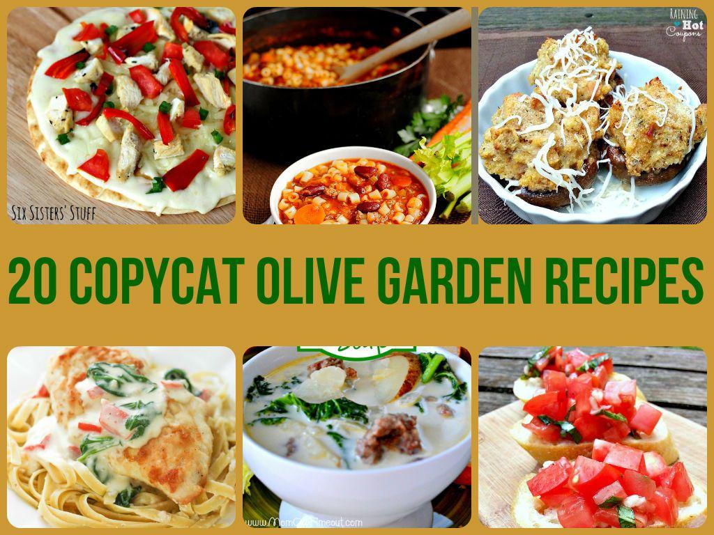 20 Copycat Olive Garden Recipes Recipes Pinterest Olive Garden Recipes Olive Gardens And