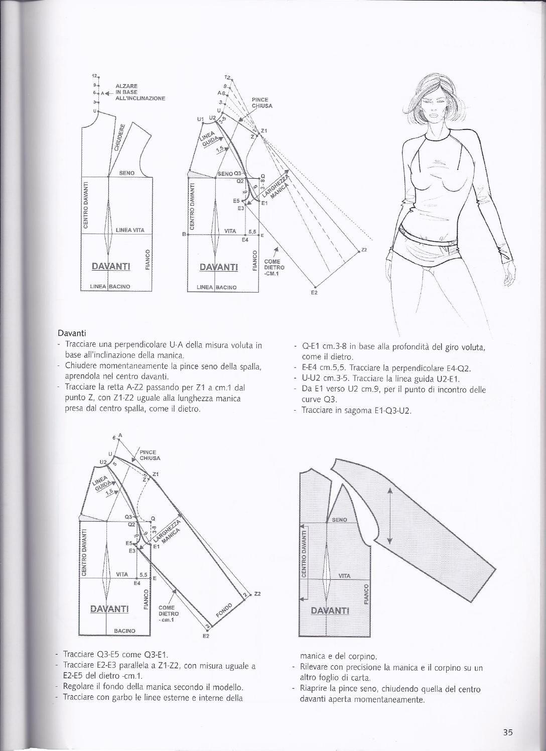 Base raglan 2 Antonio Donnanno La tecnica dei modelli. Donna - uomo vol.2