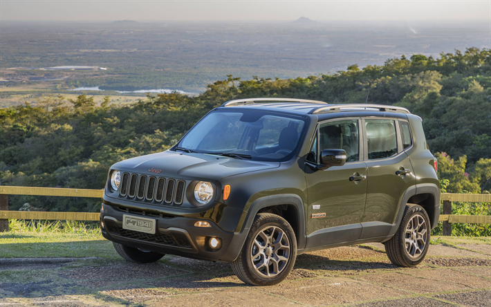 Download Wallpapers Jeep Renegade Road 2018 Cars Suvs American
