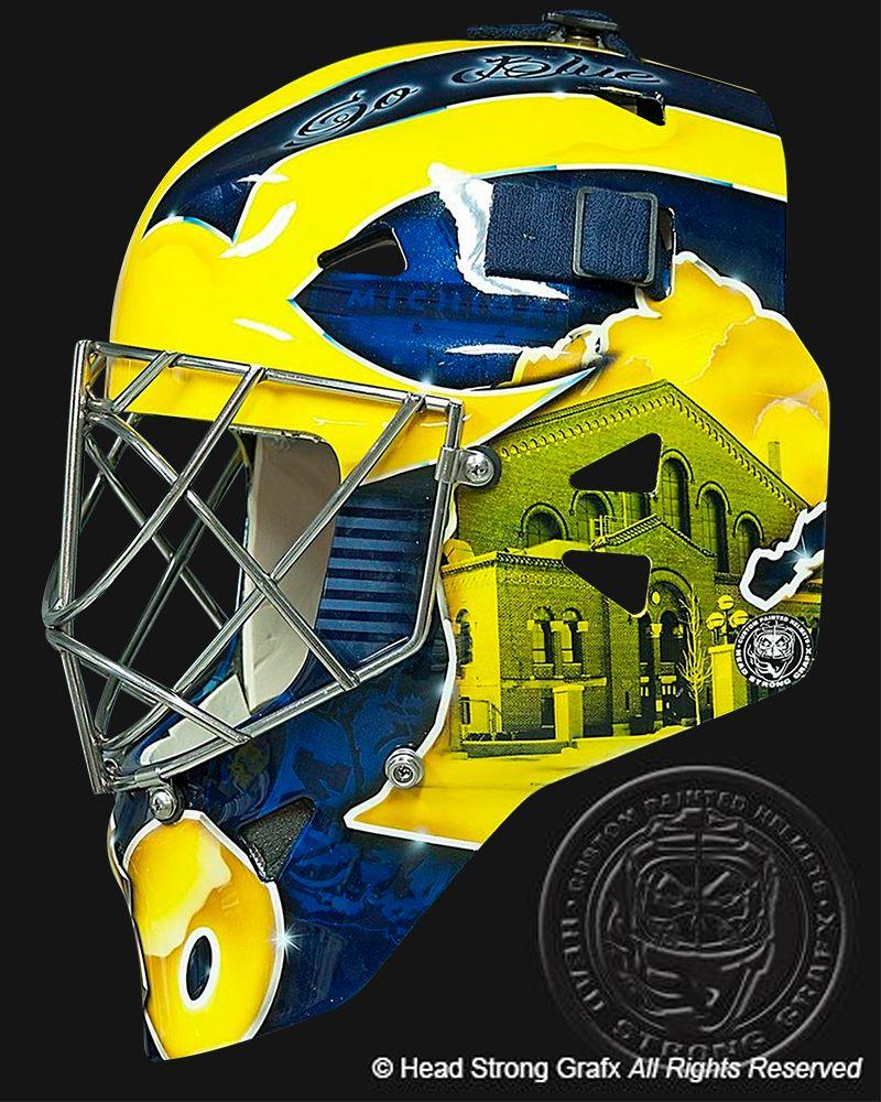 Ncaa Goalie Masks Google Search Michigan Hockey Hockey Helmet Hockey Goalie