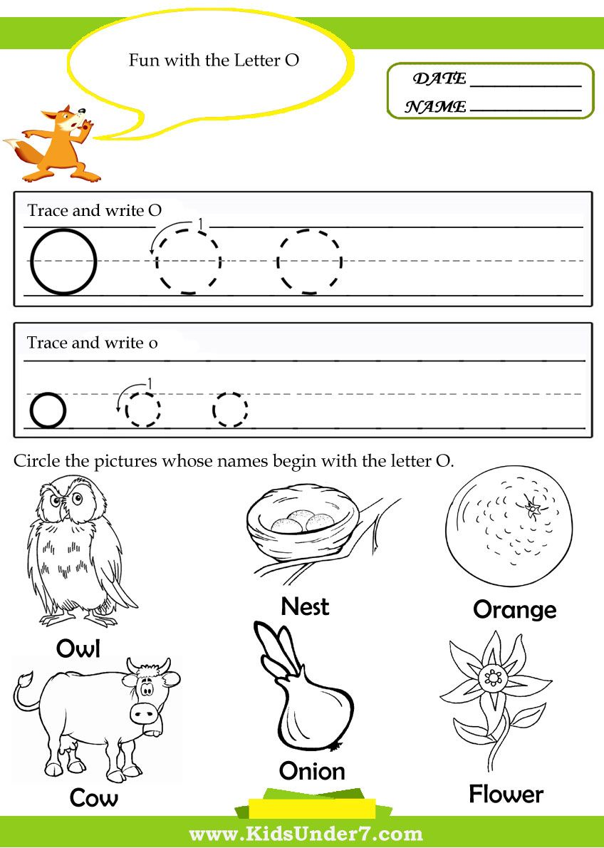kindergarten worksheets for the letter o - Google Search