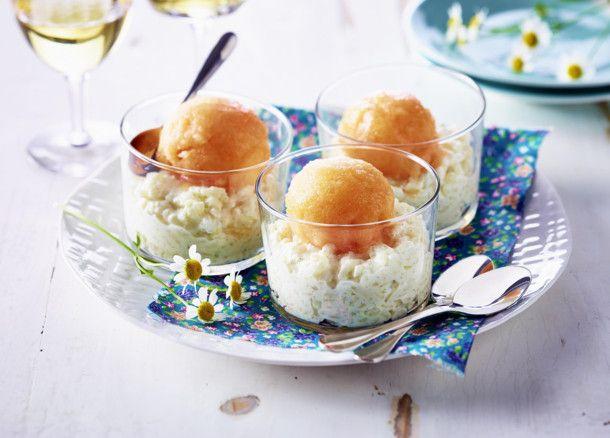 Unser beliebtes Rezept für Milchreis mit Melonen-Sorbet und mehr als 55.000 weitere kostenlose Rezepte auf LECKER.de.